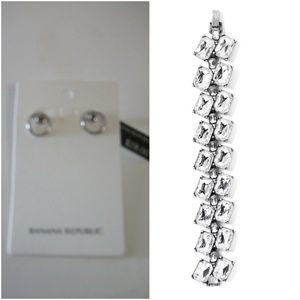 Banana Republic Deco Bracelet Circle Stud earrings